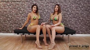 Indian Twins Swimsuit bare Strip Masturbate Tease