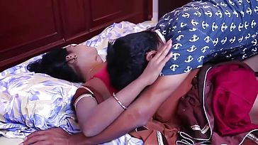 Bengali Aunty Having Romance with Husband at Bedroom