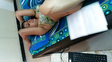 Desi Husband Recording His Wifey Plumbed By Pal