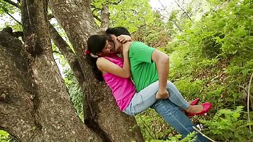 School Couple Dint Manage Love In Woods Brief Movie