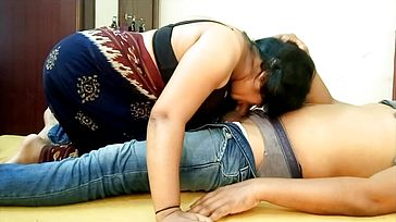 Indian Big Titties Saari Gal Oral pleasure and Munching Beau Cum