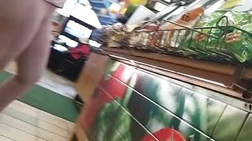 Sexy indian mummy at subway