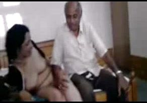 Desi mature with elderly insatiable Customer