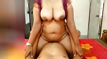 Indian Maroon Female Railing on Me and Make Me Jism On Her Big Boobs