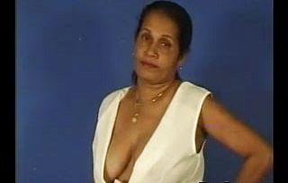Indian Aunty displaying Off Her Bosoms
