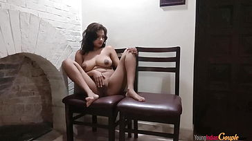 Indian Teenager Tugging Before Getting Poked