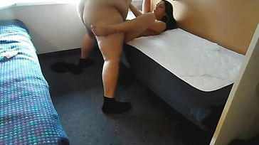 Sexy Indian School Gal deep throats And Tears up a Plump wood