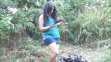 Indian unexperienced plumper Kikis public showcasing and outdoor hidden cam