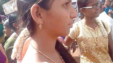 Madurai tamil torrid saree sight of wonderful school doll in public