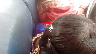 Tamil scorching school gal brassiere in bus