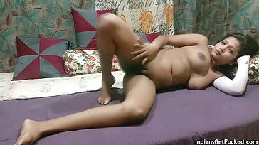 Succulent Indian Teenager Gal Sarika